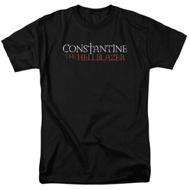 Constantine Hellblazer Logo Short Sleeve Adult Black T-Shirt