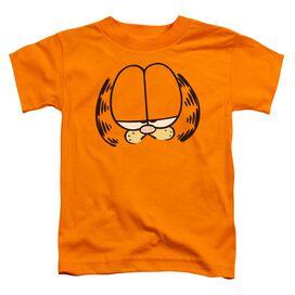 Garfield Big Head Short Sleeve Toddler Tee Orange Md T-Shirt