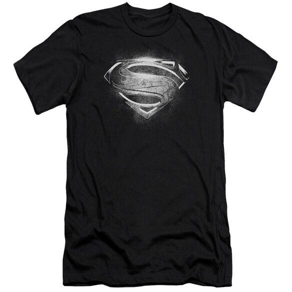 Man Of Steel Contrast Symbol Short Sleeve Adult T-Shirt