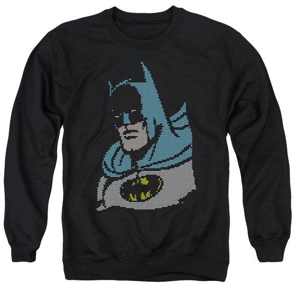 Dc Lite Brite Batman Adult Crewneck Sweatshirt