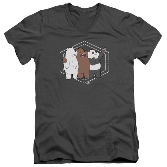 We Bare Bears Selfie Short Sleeve Adult V Neck T-Shirt