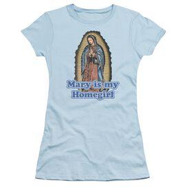 Mary Is My Homegirl Short Sleeve Junior Sheer Light T-Shirt