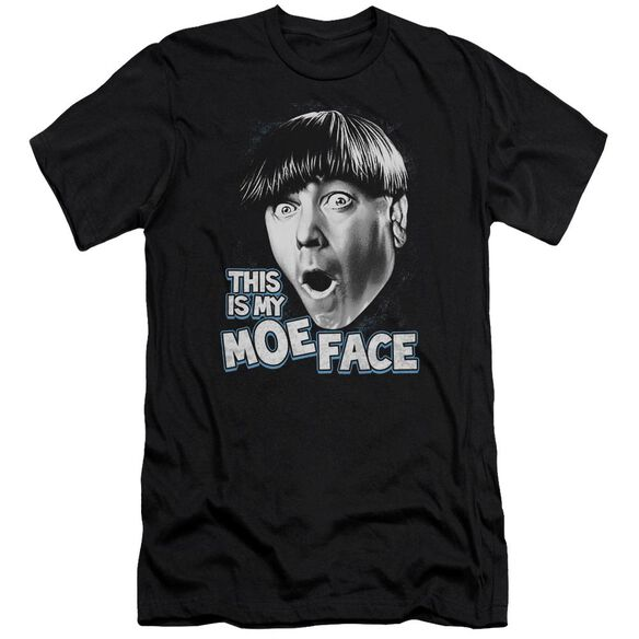 Three Stooges Moe Face Premuim Canvas Adult Slim Fit