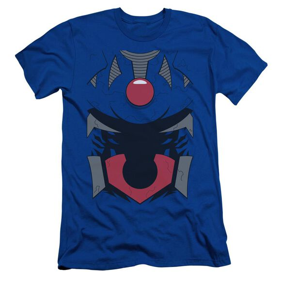 Jla Darkseid Uniform Short Sleeve Adult Royal T-Shirt