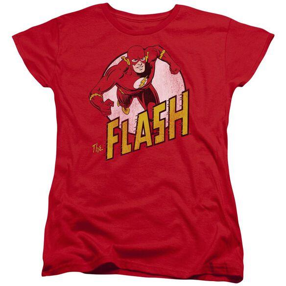 Dc Flash The Flash Short Sleeve Womens Tee T-Shirt
