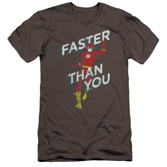 Dc Faster Than You Premuim Canvas Adult Slim Fit