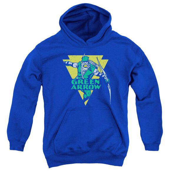 Dc Distressed Arrow Youth Pull Over Hoodie Royal
