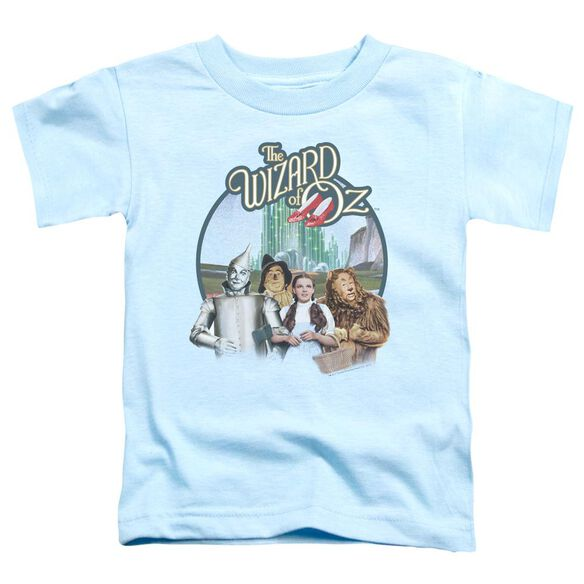Wizard Of Oz We're Off To See Wizard Short Sleeve Toddler Tee Light Blue T-Shirt