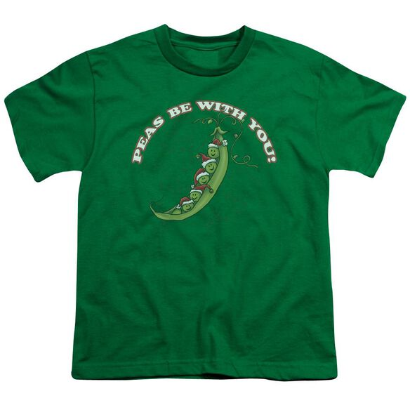 Peas Be With You Short Sleeve Youth Kelly T-Shirt