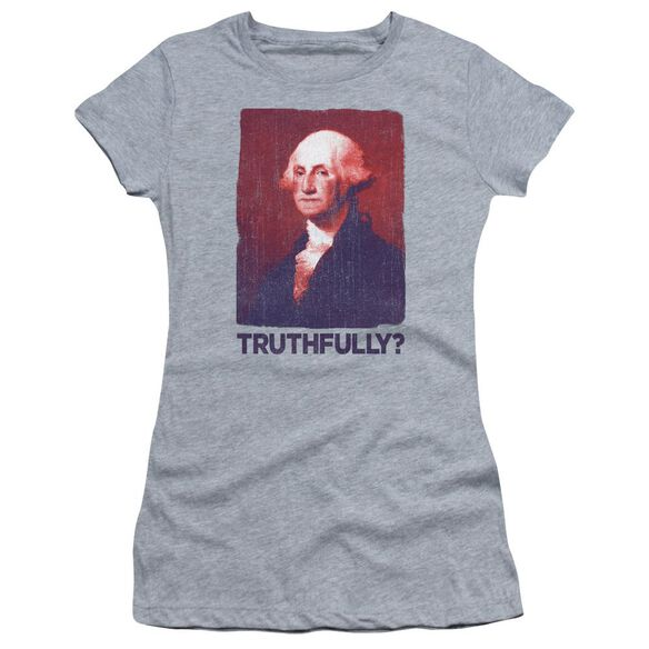 Truthfully George Short Sleeve Junior Sheer Athletic T-Shirt