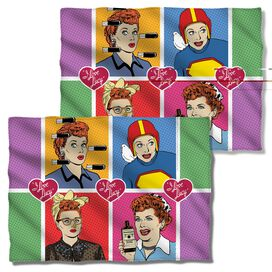 I Love Lucy Comic (Front Back Print) Pillow Case White