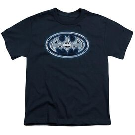 Batman Cyber Bat Shield Short Sleeve Youth T-Shirt