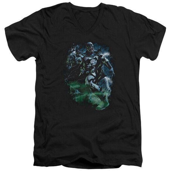 Green Lantern Lantern Batman Short Sleeve Adult V Neck T-Shirt