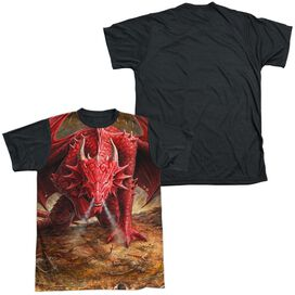 Anne Stokes Dragons Lair Short Sleeve Adult Front Black Back T-Shirt