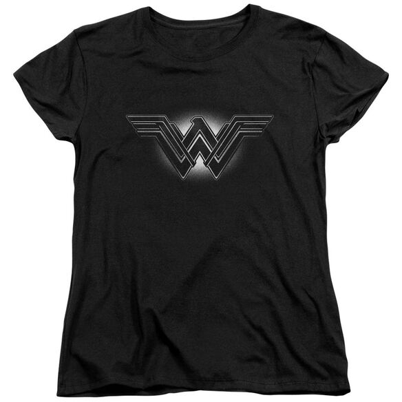 Batman V Superman Glow Emblem Short Sleeve Womens Tee T-Shirt