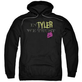 Fight Club In Tyler We Trust Adult Pull Over Hoodie Black