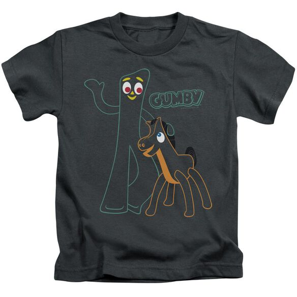 Gumby Outlines Short Sleeve Juvenile T-Shirt