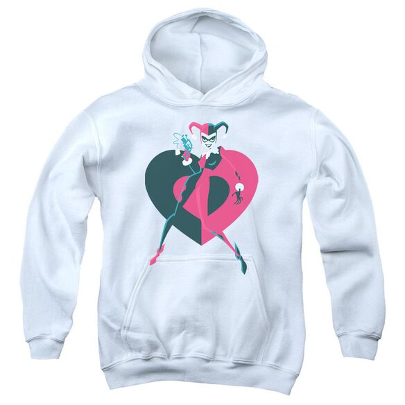 Batman Harely Heart Youth Pull Over Hoodie