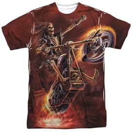Anne Stokes Hellrider Short Sleeve Adult Poly Crew T-Shirt