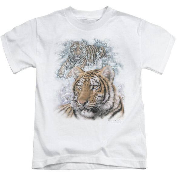 Wildlife Tigers Short Sleeve Juvenile T-Shirt
