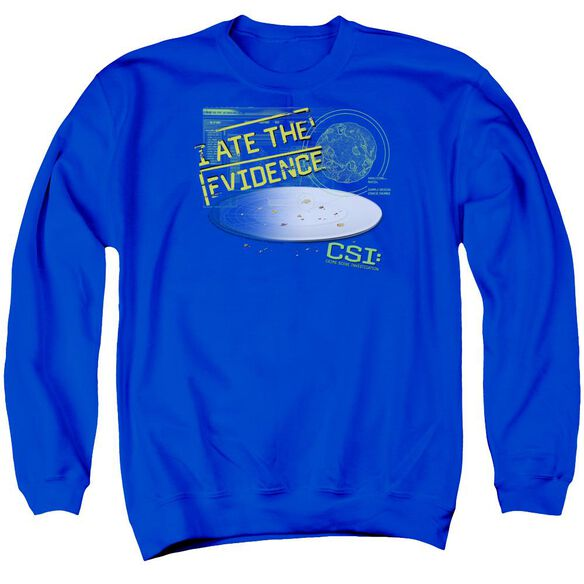 Csi I Ate The Evidence Adult Crewneck Sweatshirt Royal