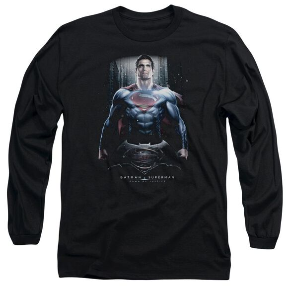 Batman V Superman Supe Ground Zero Long Sleeve Adult T-Shirt