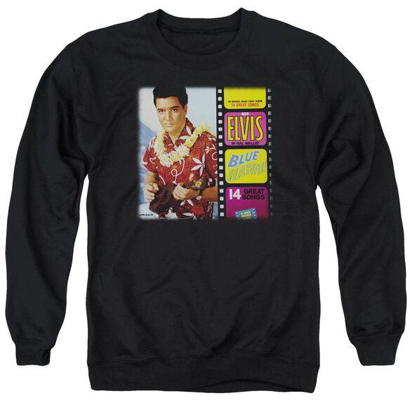Elvis Blue Hawaii Album Adult Crewneck Sweatshirt