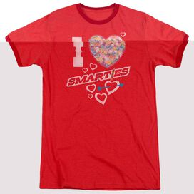 SMARTIES I HEART SMARTIES - ADULT HEATHER RINGER - RED
