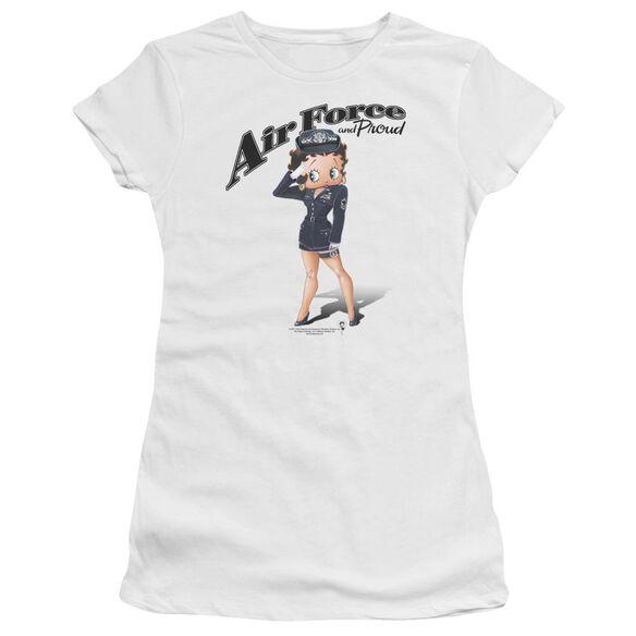 Betty Boop Air Force Boop Premium Bella Junior Sheer Jersey