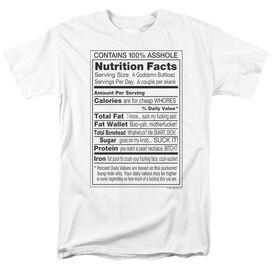100% ASSHOLE - ADULT 18/1 - WHITE T-Shirt