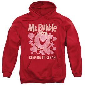 Mr Bubble Keeping It Clean Adult Pull Over Hoodie