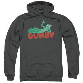 Gumby On Logo Adult Pull Over Hoodie