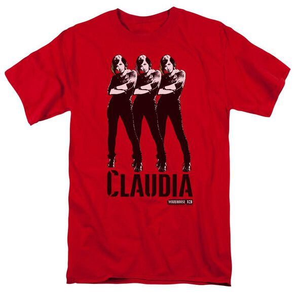 Warehouse 13 Claudia Short Sleeve Adult Red T-Shirt