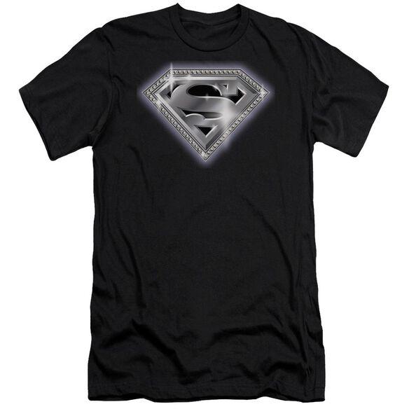 Superman Bling Shield Premuim Canvas Adult Slim Fit