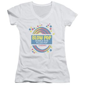 Tootsie Roll Blow Pop Label Junior V Neck T-Shirt
