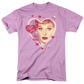 I LOVE LUCY KISSING HEARTS - S/S ADULT 18/1 T-Shirt