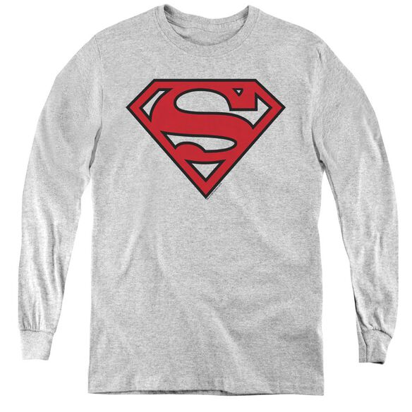 Superman Red & Black Shield-youth Long Sleeve