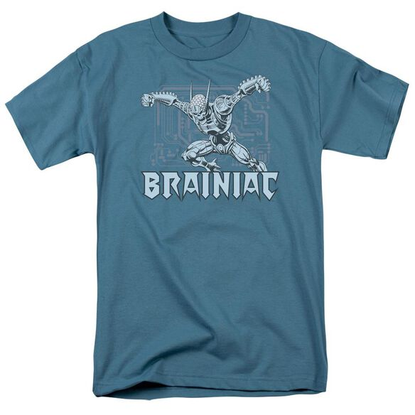 Dc Brainiac Short Sleeve Adult Slate T-Shirt