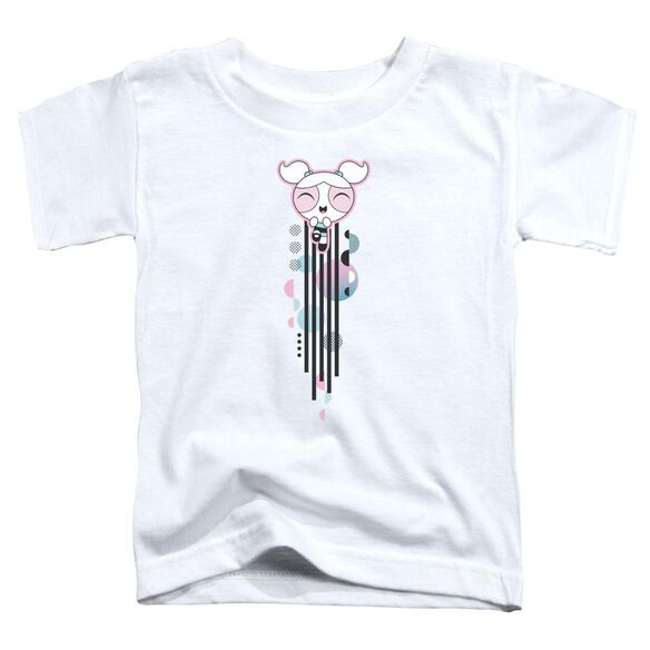 Powerpuff Girls Bubbles Streak Short Sleeve Toddler Tee White T-Shirt