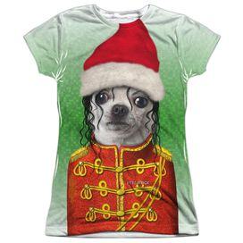 Pets Rock Christmas Pop Short Sleeve Junior Poly Crew T-Shirt