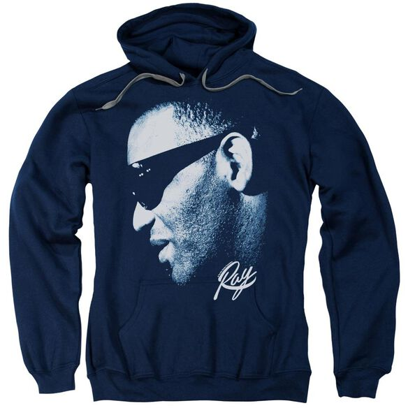 Ray Charles Blue Ray Adult Pull Over Hoodie