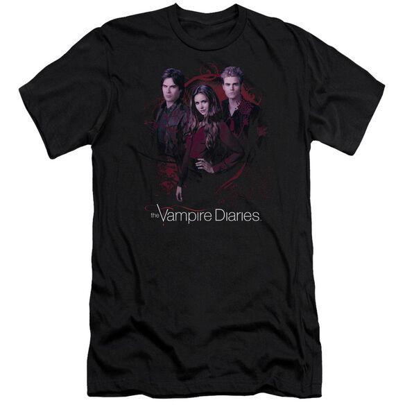 Vampire Diaries Company Of Three Premuim Canvas Adult Slim Fit