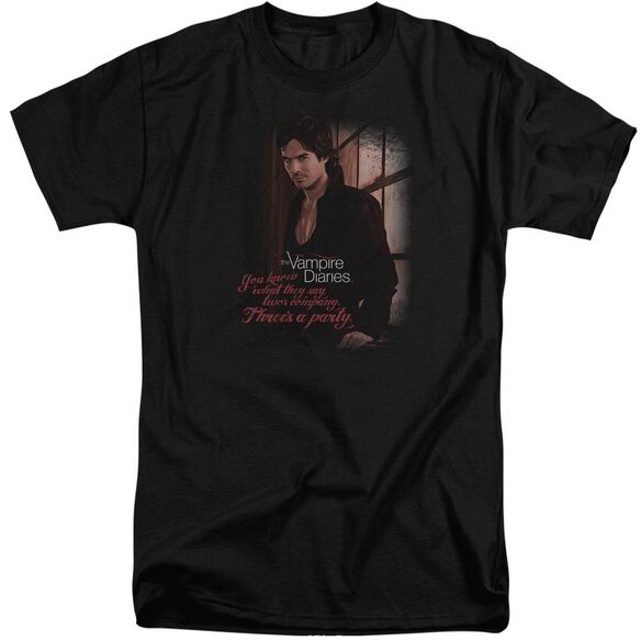 Vampire Diaries Threes A Party Short Sleeve Adult Tall T-Shirt