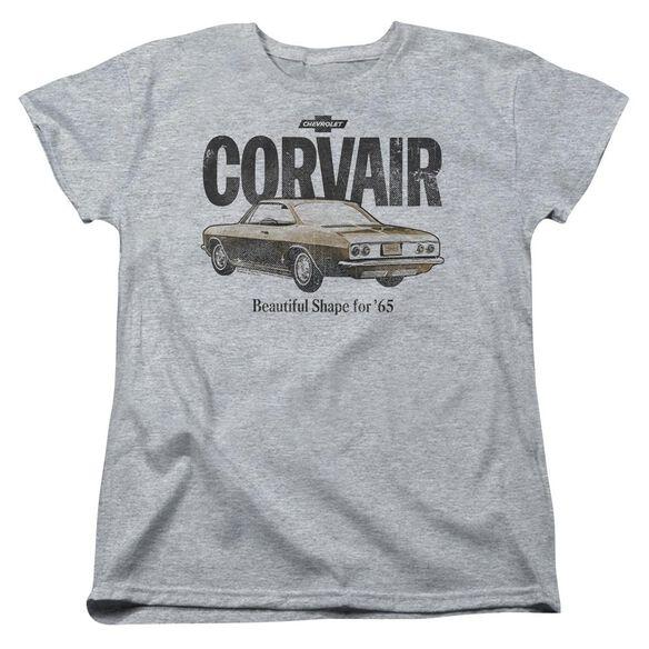 Chevrolet Retro Corvair Short Sleeve Womens Tee Athletic T-Shirt