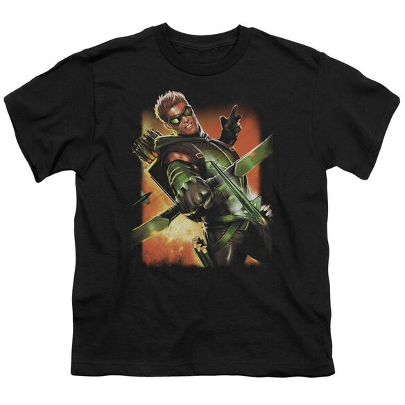 Jla Green Arrow #1 Short Sleeve Youth T-Shirt