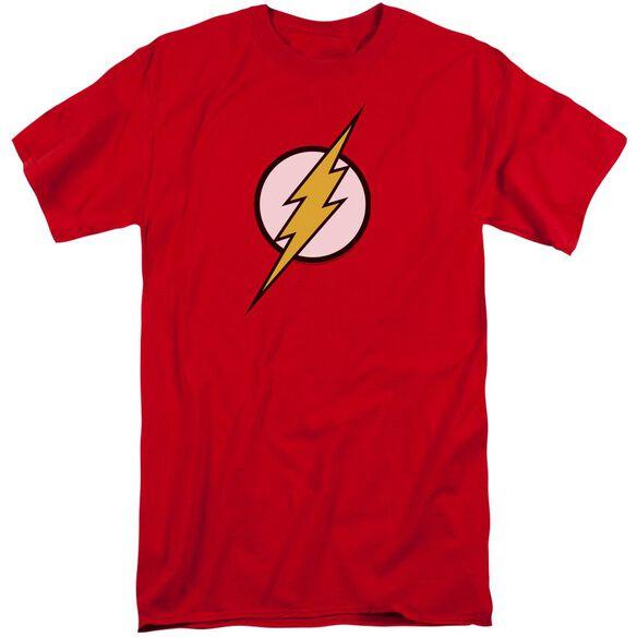 Jla Flash Logo Short Sleeve Adult Tall T-Shirt