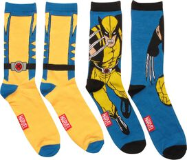 X Men Wolverine Suit 2 Pack Crew Socks Set
