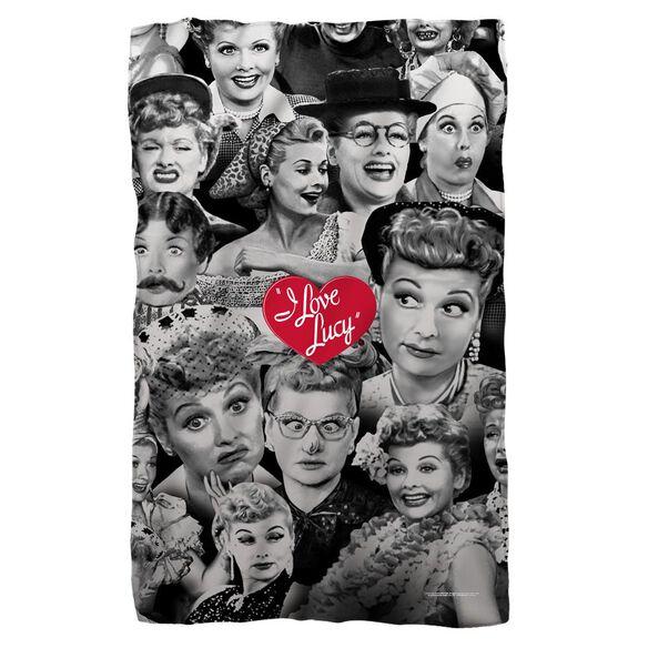 I Love Lucy Faces Fleece Blanket