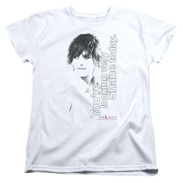 THE L WORD LOOKING SHANE TODAY - S/S WOMENS TEE - WHITE T-Shirt