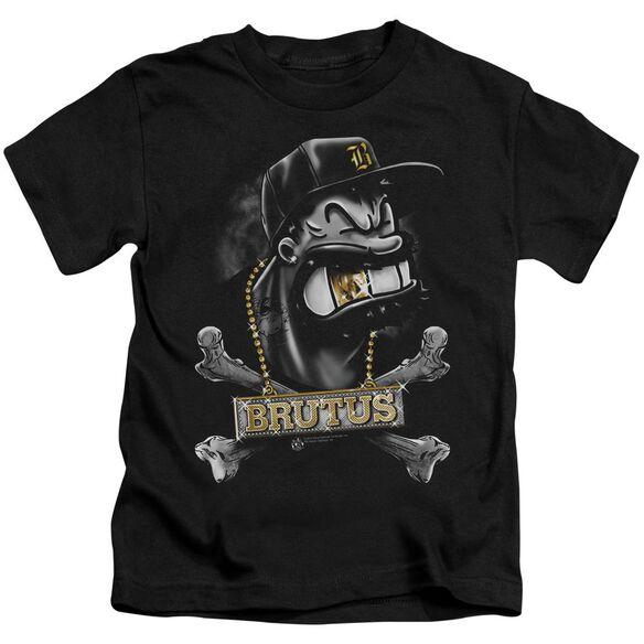 Popeye Brutus Short Sleeve Juvenile Black T-Shirt